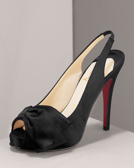 Christian Louboutin Very Noeud Knotted Satin Pump
