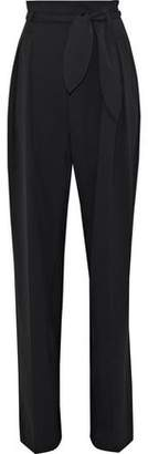 IRO Fernie Pleated Wool-Blend Twill Wide-Leg Pants