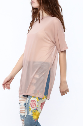 Cotton Candy Blush Mesh Top $30 thestylecure.com