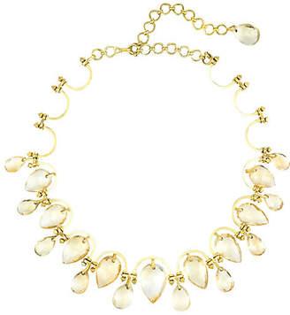 One Kings Lane Vintage Yellow Gold Topaz Statement Necklace - Precious & Rare Pieces