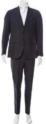 Caruso Pinstripe Linen Two-Piece Suit