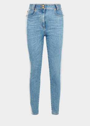 Versace Two-Toned Stone Wash Jeans