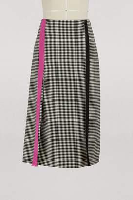 Marco De Vincenzo Wool midi skirt