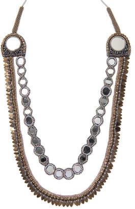 Deepa Gurnani Tassel Statement Necklace
