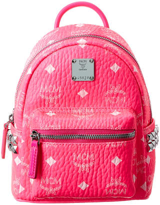 MCM Stark Side Studded Bebe Boo Visetos Backpack