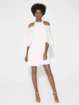 Flowy Cold Shoulder Dress $295 thestylecure.com