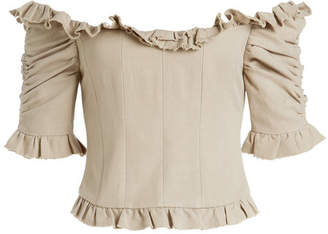 Brock Collection Tao Off-Shoulder Blouse