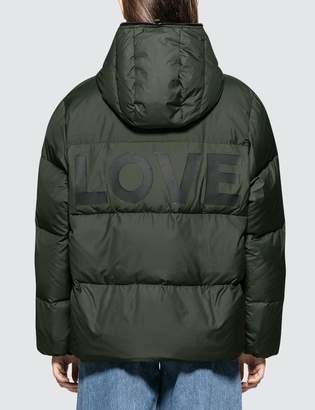 Katharine Hamnett Duvetica X Oversized Down Puffer Jacket With Love Slogan