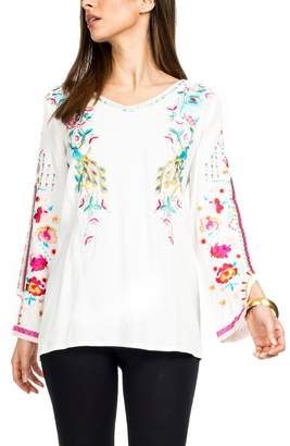Adore Embroidered Peacock Tunic