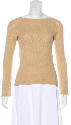 Giorgio Armani Open Knit Long Sleeve Sweater