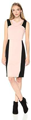 Nine West Women's Ponte Color Block Dress