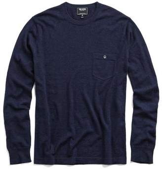 Todd Snyder Cashmere T-Shirt Sweater in Navy Heather