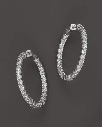 Bloomingdale's Diamond Inside-Out Hoop Earrings in 14K White Gold, 4.0 ct. t.w. - 100% Exclusive