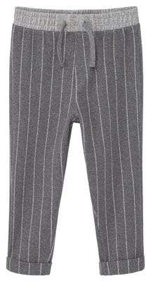 MANGO Stripy jogging trousers