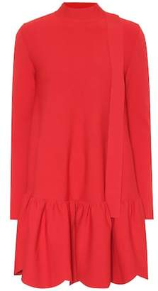 Valentino Bow-back jersey minidress