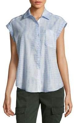 Lord & Taylor Frankie Tie-Dyed Cotton Button-Down Shirt