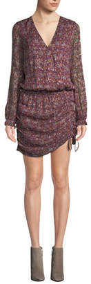 Ramy Brook Vina Printed Ruched Mini Dress