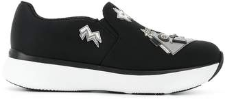 Prada appliqué slip-on sneakers