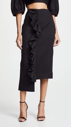 Edit Frill Step Hem Skirt