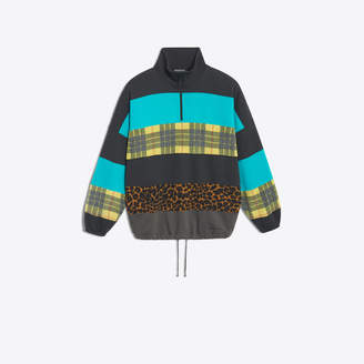 Balenciaga Fleece and felt multimaterial sweater