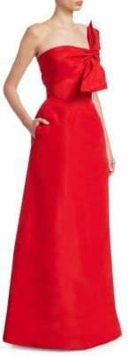 Catherine Regehr Strapless Wrap Gown