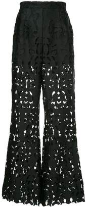 Self-Portrait high waisted cut out trousers