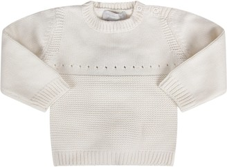 Stella McCartney White Babygirl Sweater With Pink Bunny