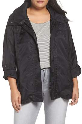Halogen Belted Hooded Jacket (Plus Size)