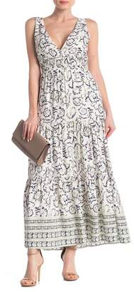 MelloDay Woven Print Midi Dress