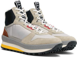 Givenchy TR3 Shell, Nubuck and Leather High-Top Sneakers - Gray