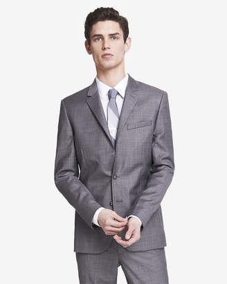 Express Skinny Innovator Micro Twill Gray Suit Jacket