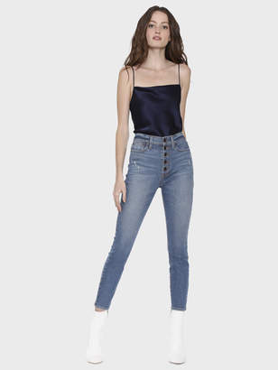 Alice + Olivia Good High Rise Exposed Button Fly Jean