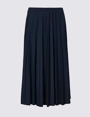 Marks and Spencer Jersey Pleated Midi Skirt