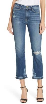 Frame Le High Release Hem Straight Leg Jeans