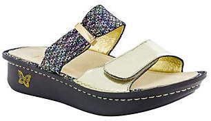 Alegria Leather Double Strap Slide Sandals - Karmen