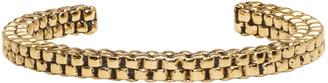 Balmain Gold Scoubidou Bracelet $235 thestylecure.com