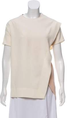 Cédric Charlier Short Sleeve Scoop Neck Blouse