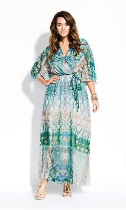 City Chic Citychic Istanbul Maxi Dress - mint