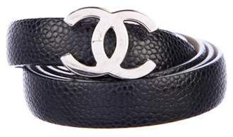 Chanel CC Skinny Leather Belt