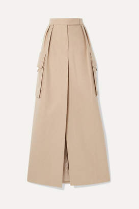Max Mara Duente Wool And Cashmere-blend Maxi Skirt - Beige