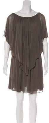 Halston Short Sleeve Midi Dress