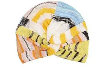 Missoni MARE Wave-stripe knitted turban hat