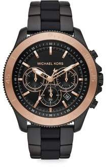 Michael Kors Theroux Chronograph Black Stainless Steel Bracelet Watch