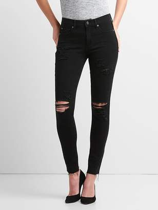 Gap Washwell Mid Rise True Skinny Ankle Jeans in 360 Stretch