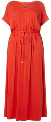 Dorothy Perkins Womens **DP Curve Coral Jersey Maxi Dress