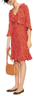 Boden Fluted Wrap Style Stretch Jersey Dress