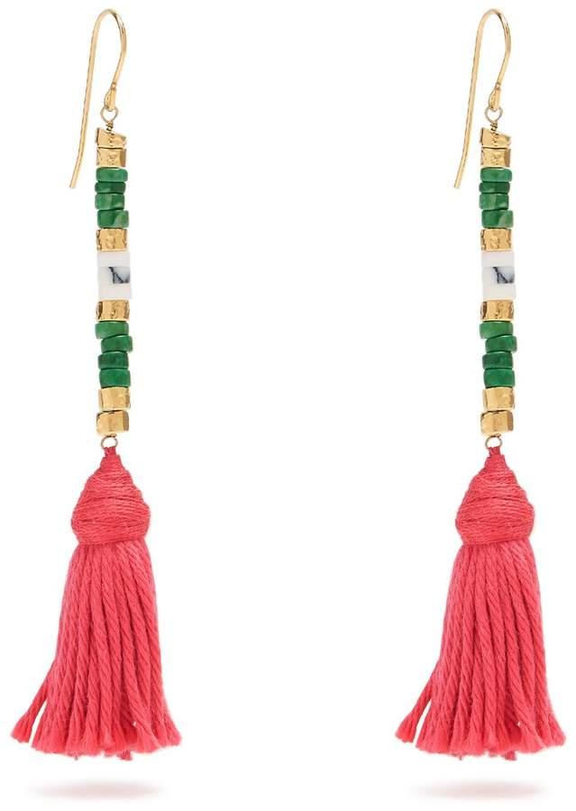 Aurelie BidermannAURÉLIE BIDERMANN Sioux tassel-drop earrings