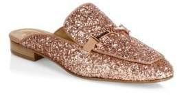 Tory Burch Amelia Glitter Backless Loafers