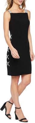 MSK Sleeveless Embellished Shift Dress