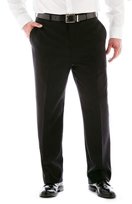 STAFFORD Stafford Super 100 Black Stripe Flat-Front Suit Pants-Big & Tall
